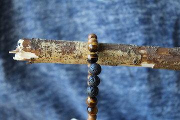Lava & Tijgeroog armband