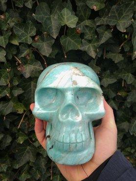 Amazoniet skull XL