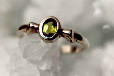 Peridoot Zilveren Ring