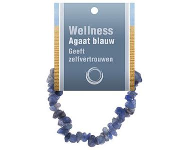 Agaat blauw Armband