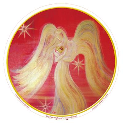 Raamsticker Angel of Hope