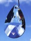 Regenboog kristal druppelvorm