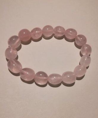 Armband trommelsteentjes rozenkwarts