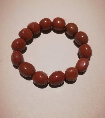Armband trommelsteentjes rode jaspis