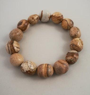 Armband trommelsteentjes landschaps jaspis
