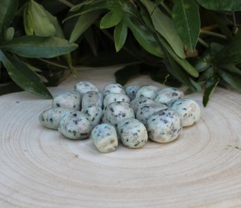 Kiwi jaspis trommelsteen