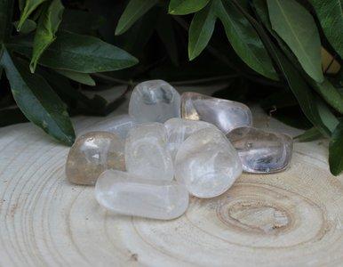 Bergkristal trommelsteen