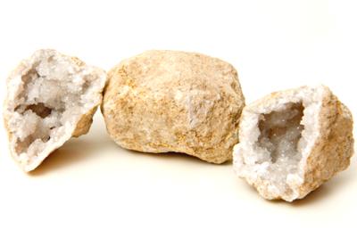 Bergkristal Dichte Geode